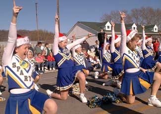 cheerleaders in parade
